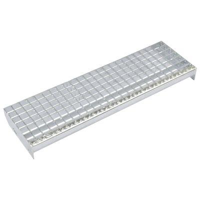 vidaXL Treppenstufen 4 Stk. Pressroste Verzinkter Stahl 600 x 240 mm