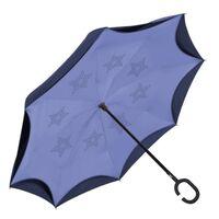regenschirm umkehrbar 108 cm blau