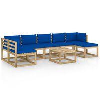 vidaXL 8-tlg. Garten-Lounge-Set mit Kissen Imprägniertes Kiefernholz