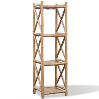 Bambus Regal 4-etagig viereckig