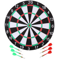 Master Darts Dartboard - 40,5 cm - beidseitig - mit 6 Darts