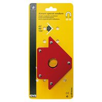 GYS Fixierschweißmagnet Winkelmagnet Rot 30 x 13,8 x 2,5 cm