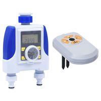 vidaXL Elektronische Bewässerungsuhr 2-fach mit Feuchtigkeitssensor