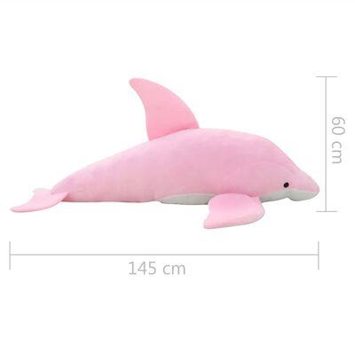 vidaXL Delphin Kuscheltier Plüsch Rosa