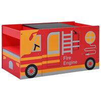 vidaXL 3-tlg. Kindertisch- und Stuhl-Set Feuerwehrauto-Design Holz