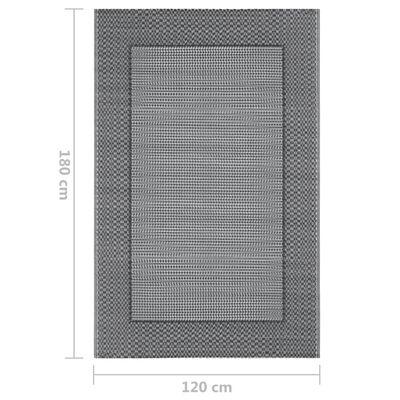 vidaXL Outdoor-Teppich Grau 120x180 cm PP