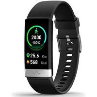 Aktivitätsarmband Mit Bluetooth Und Herzfrequenzmesser, Schwarz - Sch