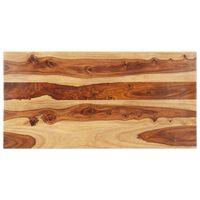vidaXL Tischplatte Massivholz Palisander 25-27 mm 60×120 cm