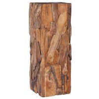 vidaXL Beistelltisch 30x30x80 cm Massivholz Teak