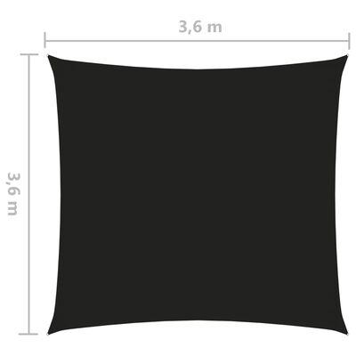 vidaXL Sonnensegel Oxford Gewebe Quadratisch 3,6x3,6 m Schwarz