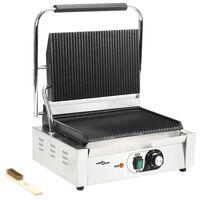 vidaXL Gerillter Panini-Grill 2200 W 44 x 41 x 19 cm