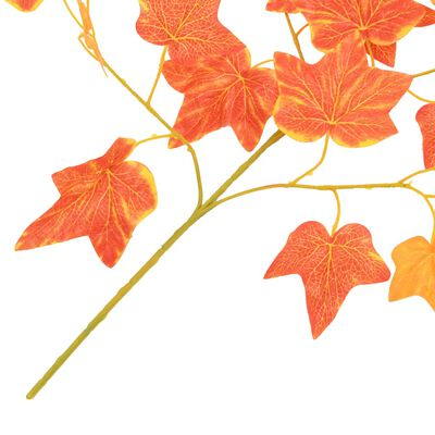 vidaXL Künstliche Blätter Efeu 10 Stk. Rot 70 cm, Red