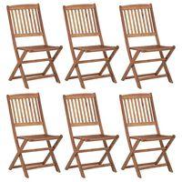 vidaXL Klappbare Gartenstühle 6 Stk. Massivholz Akazie