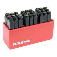 YATO Schlagbuchstaben 27 Stk. 6 mm