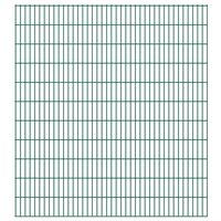 vidaXL 2D Gartenzaun-Elemente 2,008x2,23 m Gesamtlänge 30 m Grün