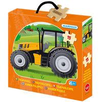Holzasche Puzzle Traktor 15 Stück