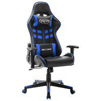 vidaXL Gaming-Stuhl Schwarz und Blau Kunstleder