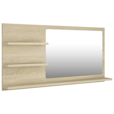 vidaXL Badspiegel Sonoma-Eiche 90x10,5x45 cm Spanplatte