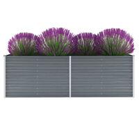 vidaXL Garten-Hochbeet Verzinkter Stahl 240x80x77 cm Grau