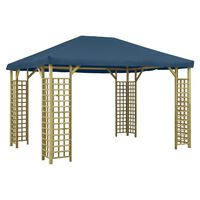 vidaXL Pavillon 4 x 3 m Blau