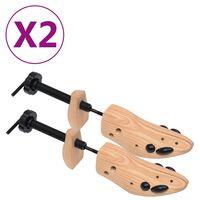 vidaXL Schuhspanner 2 Paar Größe 41-46 Kiefer Massivholz