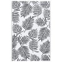 vidaXL Outdoor-Teppich Weiß und Schwarz 160x230 cm PP