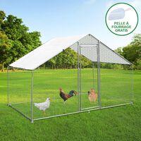 Hühnerfreilauf Freilaufgehege Hühnerkäfig UV Dach Freilauf Outdoor