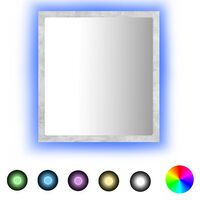 vidaXL LED-Badspiegel Betongrau 40x8,5x37 cm Spanplatte