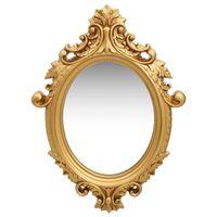 vidaXL Wandspiegel im Rokoko-Stil 56×76 cm Golden