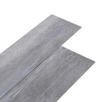 vidaXL PVC-Laminat-Dielen 5,02 m² 2mm Selbstklebend Mattgrau Holzoptik