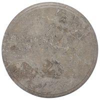 vidaXL Tischplatte Grau Ø40x2,5 cm Marmor