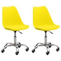 vidaXL Bürostühle 2 Stk. Gelb Kunstleder