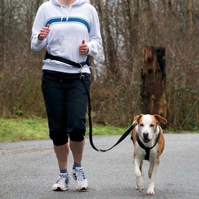 TRIXIE Jogginggürtel für Hunde Größe M Schwarz 12767