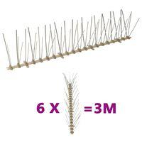vidaXL 6-tlg. Vogelabwehr-Spikes-Set 3 m Kunststoff 5-reihig