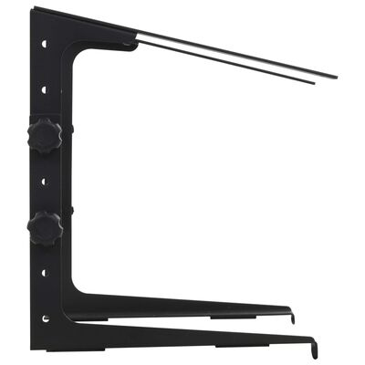 vidaXL Laptopständer Schwarz 30,5x28×(24,5-37,5) cm Stahl