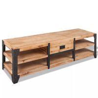 vidaXL TV-Lowboard Akazienholz Massiv 140 x 40 x 45 cm