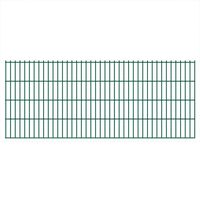 vidaXL 2D Gartenzaun-Elemente 2,008x0,83 m Gesamtlänge 8 m Grün