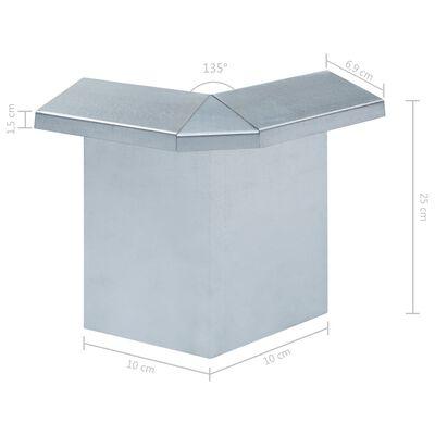 vidaXL Schneckenblech Eckteile 8 Stk. Verzinkter Stahl 10x10x25 cm,