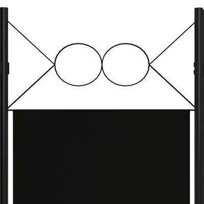 vidaXL 6-tlg. Raumteiler Schwarz 240 x 180 cm