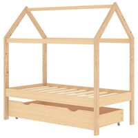 vidaXL Kinderbett mit Schublade Massivholz Kiefer 70x140 cm