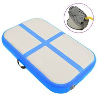vidaXL Aufblasbare Gymnastikmatte mit Pumpe 60x100x10 cm PVC Blau