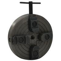 vidaXL 4-Backen-Spannfutter mit M18-Verbindung Stahl Schwarz 150x63 mm