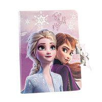 Frozen 2 - Tagebuch mit herzförmiger Schloss