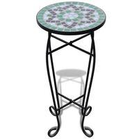 MOSAIK Beistelltisch Tisch Bistrotisch Blumenständer Grün