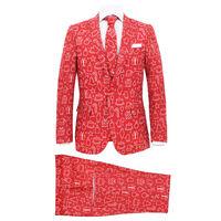 vidaXL 2-tlg. Weihnachtsanzug mit Krawatte Herren Größe 48 Rot