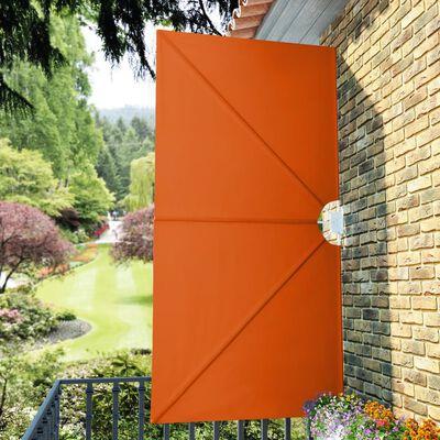 vidaXL Faltbarer Terrassen-Seitenfächer Terracotta-Rot 300×150 cm
