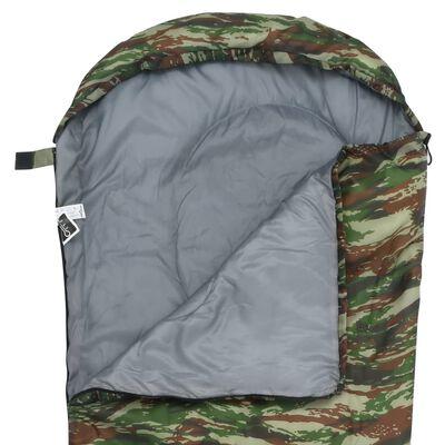 vidaXL Leichter Mumienschlafsack für Kinder Camouflage 670g 10°C