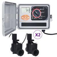 vidaXL Bewässerungssteuerung mit 4 Magnetventilen