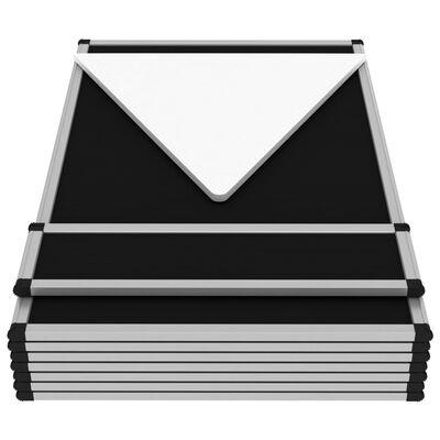 vidaXL 8-Panel Faltdisplay Messewand mit Tisch 181×200 cm Schwarz , Schwarz