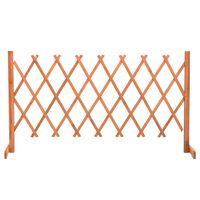 vidaXL Garten-Rankzaun Orange 150x80 cm Massivholz Tanne